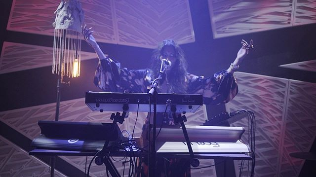 Playing @nationalsawdust was a dream. So proud to have been part of this magical programming curated by @caravangitane with the sexy ambient textures of @soundwalkcollective , the amazing live score to The Cabinet Of Dr. Caligari by Ricardo Romaneiro @composernyc , rad visuals by Brian Close @brainclosed and the humanoid from another dimension, Coen Aerts @le_directeur . Thanks to each and every one of you in the audience, I felt you deep and close to me. Videos coming soon 👁  On my way to @btrtoday for an In Studio performance!  Photos by @chascheffer , @mezza.marco , @uptilldawn and @manuelgrecony 🖤